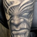 randy harris all hallows ink tattoo scray evil face