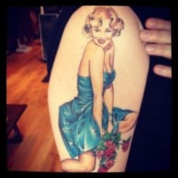 Pinup Girl Tattoo