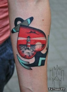 Anchor Tattoo 13