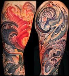 Biomechanical Tattoo 12