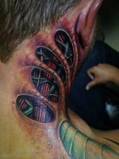 Biomechanical Tattoo 13