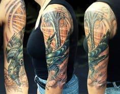 Biomechanical Tattoo 18