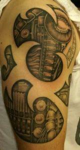 Biomechanical Tattoo 33