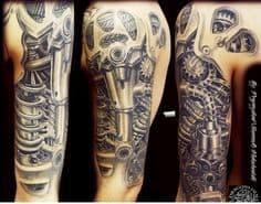 Biomechanical Tattoo 38