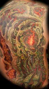 Biomechanical Tattoo 4