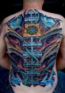 Biomechanical Tattoo 45