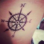 Compass Pointing East Tattoo Compass Tattoo Meaning...