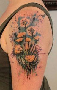 Dandelion Tattoos 13