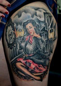 Pinup Girl Tattoo 10