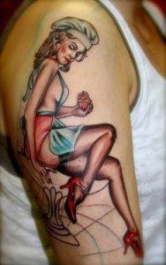 Pinup Girl Tattoo 12