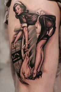 Pinup Girl Tattoo 9