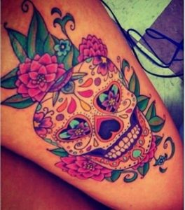Decorated Skull Meaning Sugar Skull Tattoo Meaning