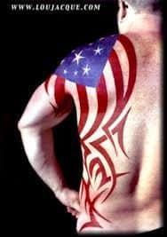 American flag tattoo 4 tattoo seo for Oklahoma flag tattoo