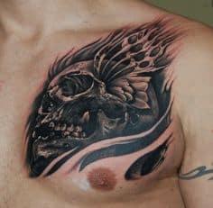 Chest Tattoo 19
