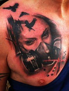 Chest Tattoo 24