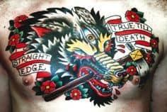 Chest Tattoo 31