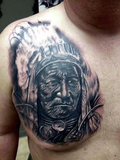Chest Tattoo 9