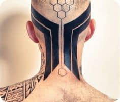 Neck Tattoo 1