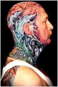 Neck Tattoo 13
