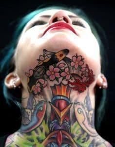 Neck Tattoo 2