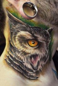 Neck Tattoo 23