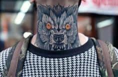 Neck Tattoo 26