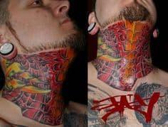 Neck Tattoo 29