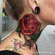 Neck Tattoo 30