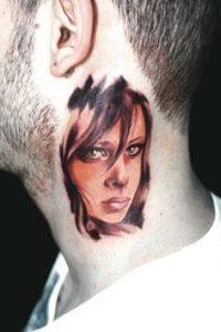 Neck Tattoo 31