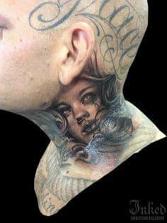 Neck Tattoo 34