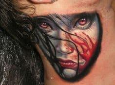 Neck Tattoo 39