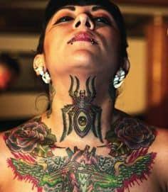 Neck Tattoo 40