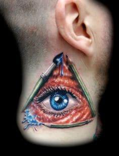 Neck Tattoo 43