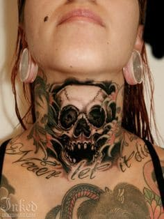 Neck Tattoo 44