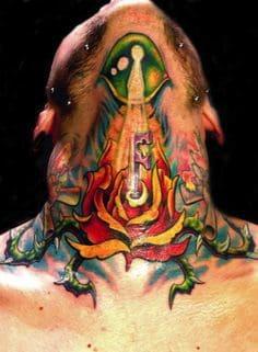 Neck Tattoo 49
