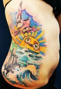 Rib Tattoo 1