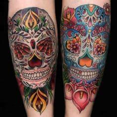Sugar Skull Tattoo Meaning 12