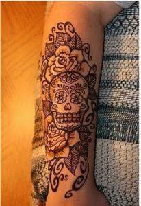 Sugar Skull Tattoo Meaning 16