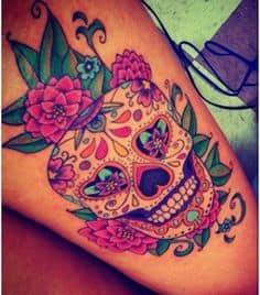 Sugar Skull Tattoo Meaning 23