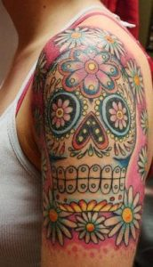 Sugar Skull Tattoo Meaning 26