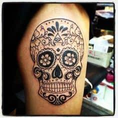 Sugar Skull Tattoo Meaning 31