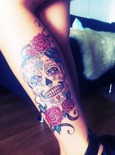 Sugar Skull Tattoo Meaning 32