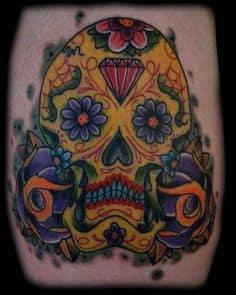 Sugar Skull Tattoo Meaning 33