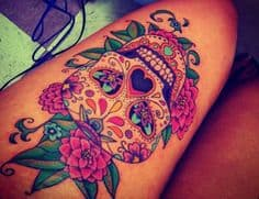 Sugar Skull Tattoo Meaning 4