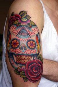 Sugar Skull Tattoo Meaning 42