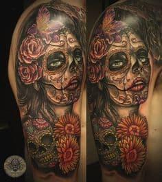 Sugar Skull Tattoo Meaning 43
