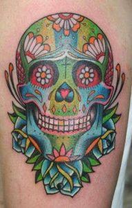 Sugar Skull Tattoo Meaning 45