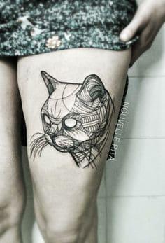 Thigh Tattoo 14