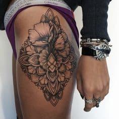 Thigh Tattoo 16