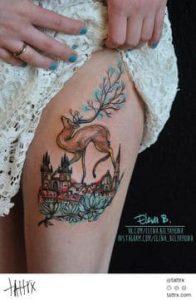 Thigh Tattoo 17